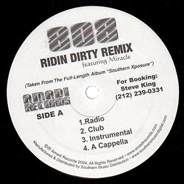 808 Featuring Miracle RIDIN DIRTY REMIX Vinyl Record