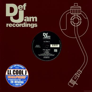 Ll Cool J HEADSPRUNG (X3) / FEEL THE BEAT (X3) Vinyl Record