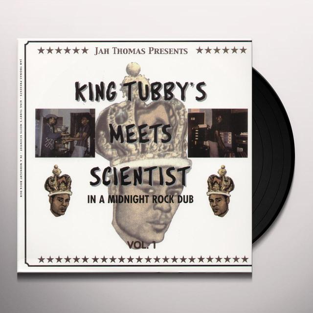 King Tubby MEETS SCIENTIST IN A MIDNIGHT ROCK DUB 1 Vinyl Record