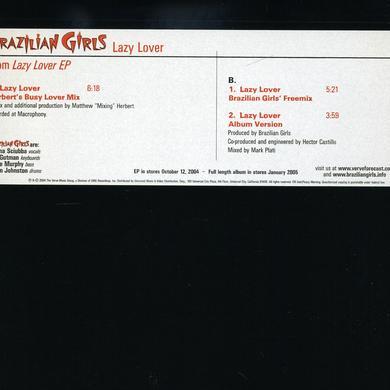 Brazilian Girls LAZY LOVER (X3) Vinyl Record