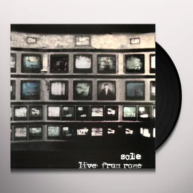 Sole LIVE FROM ROME Vinyl Record