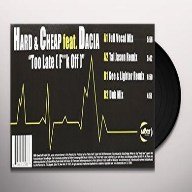 Hard & Cheap TOO LATE Vinyl Record