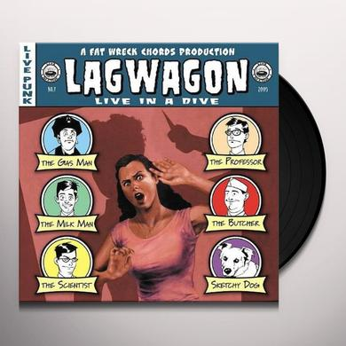 Lagwagon LIVE IN A DIVE Vinyl Record