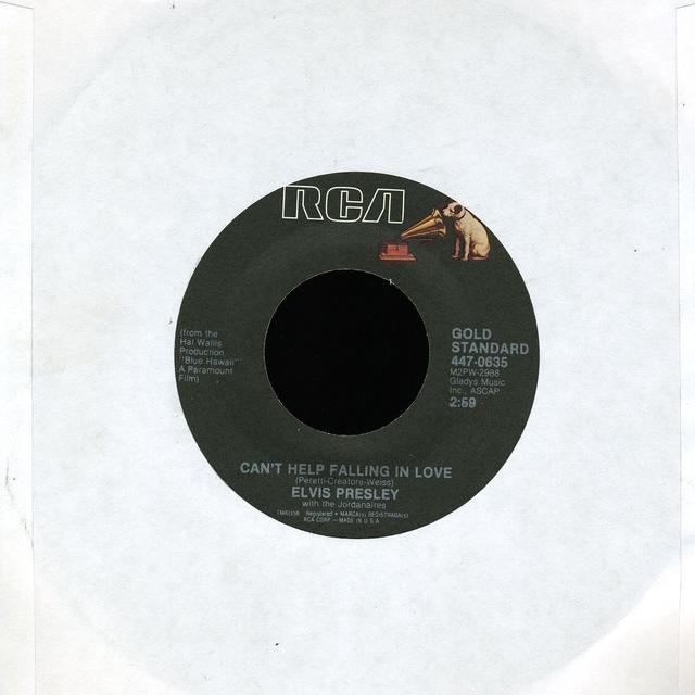 Elvis Presley CAN'T HELP FALLING IN LOVE Vinyl Record
