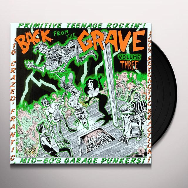 BACK FROM THE GRAVE 3 / VARIOUS Vinyl Record
