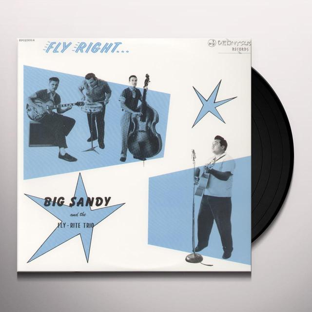 Big Sandy & Flyrite Trio FLY RIGHT WITH Vinyl Record