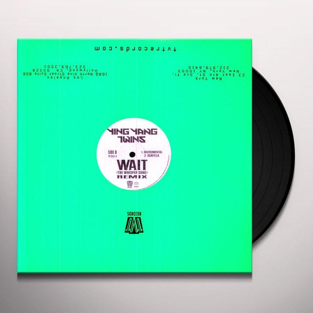 Ying Yang Twins WAIT (WHISPER SONG) REMIX Vinyl Record