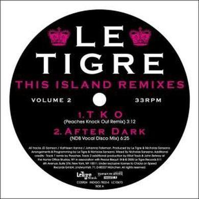 Le Tigre THIS ISLAND REMIXES 2 Vinyl Record
