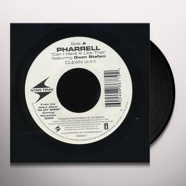 Pharrell CAN'T I HAVE IT LIKE THAT (X2) Vinyl Record