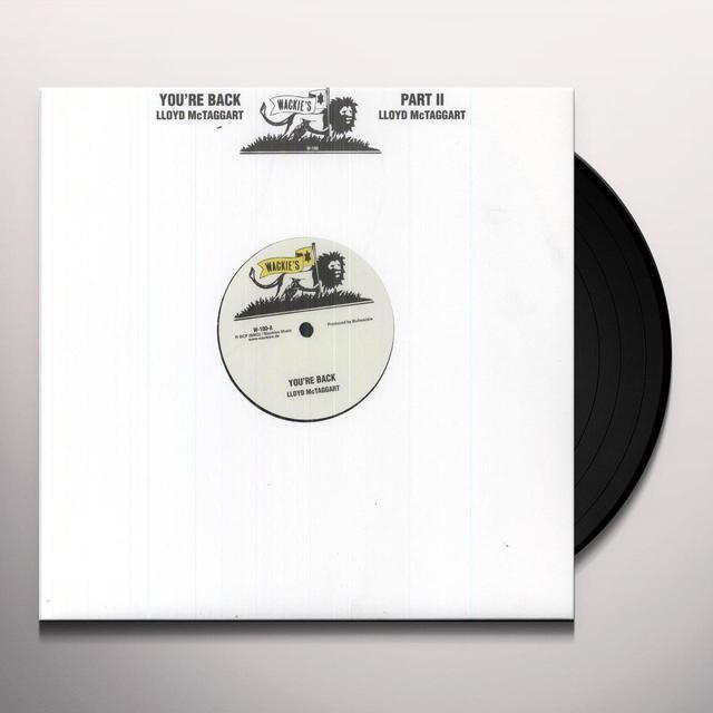 Lloyd Mc Taggart YOU'RE BACK Vinyl Record