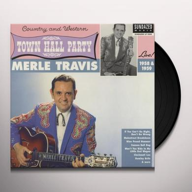 Merle Travis LIVE AT TOWN HALL PARTY 1958 & 1959 Vinyl Record