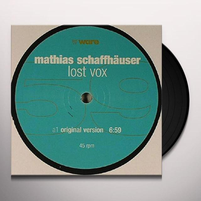 Mathias Schaffhauser LOST VOX Vinyl Record