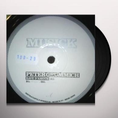 Peter Grummich RAVE D'AMOUR (EP) Vinyl Record