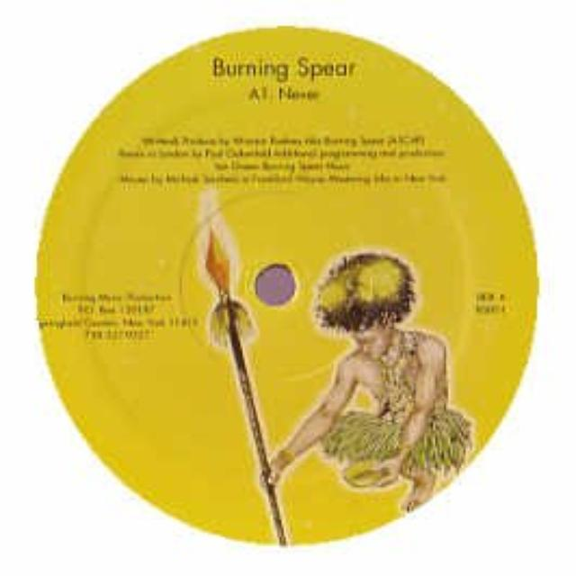 Paul Burning Spear / Oakenfold NEVER Vinyl Record
