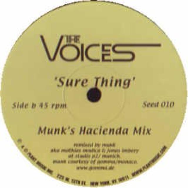 Voices SURE THING: MURK HACIENDA MIX Vinyl Record