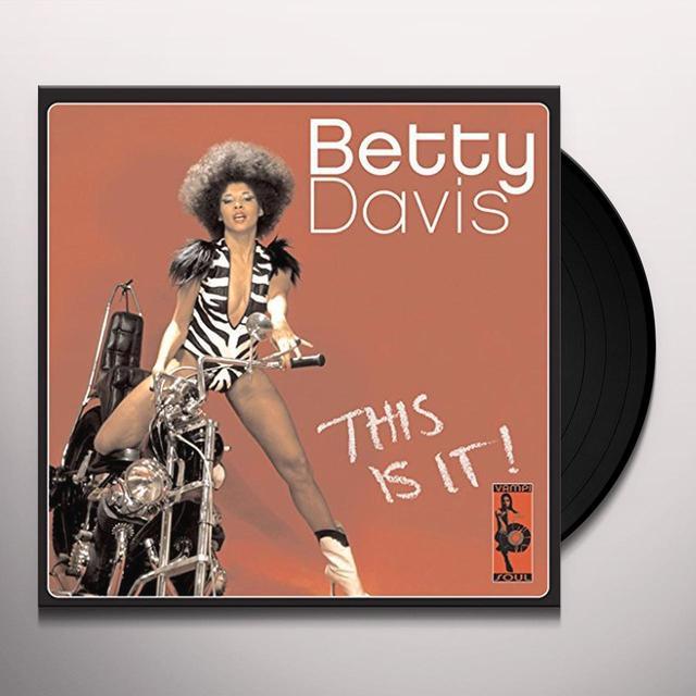 Betty Davis THIS IS IT Vinyl Record