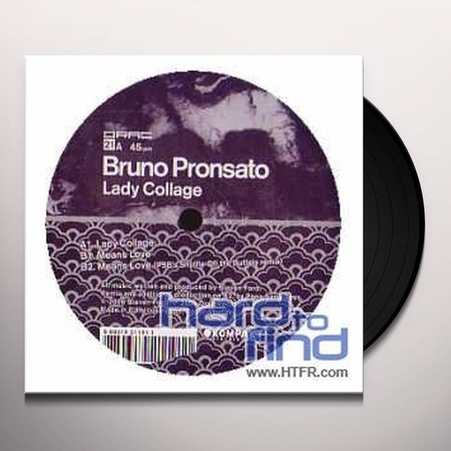 Bruno Pronsato LADY COLLAGE (EP) Vinyl Record