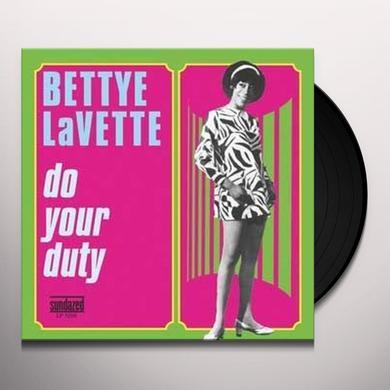 Bettye Lavette DO YOUR DUTY Vinyl Record
