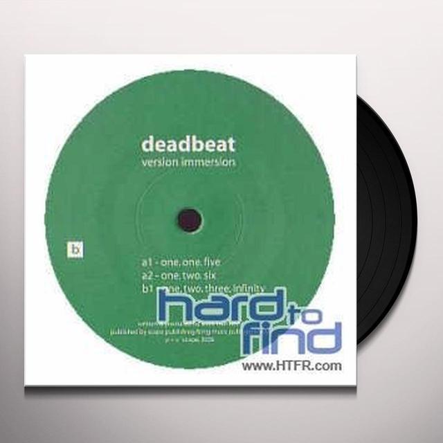 Deadbeat VERSION IMMERSION (EP) Vinyl Record