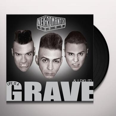 Nekromantix LIFE IS A GRAVE & I DIG IT Vinyl Record