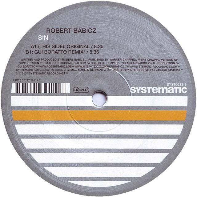 Robert Babicz SIN Vinyl Record