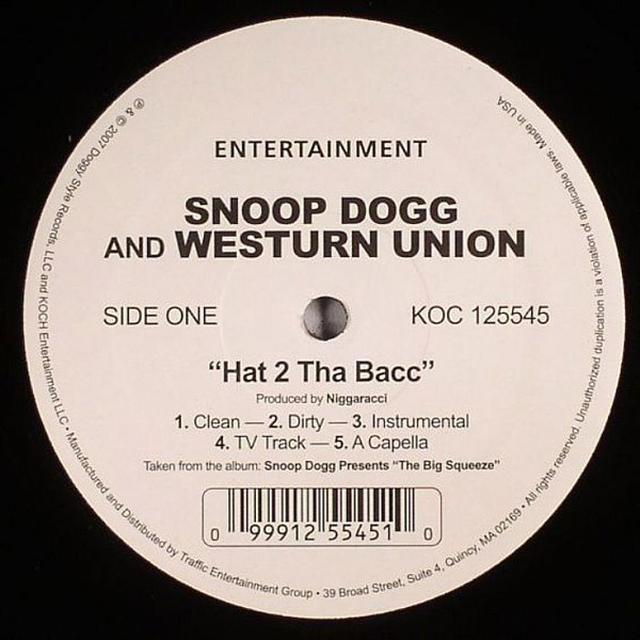 Snoop Dogg HAT 2 THA BACC Vinyl Record
