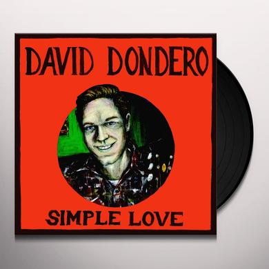 David Dondero SIMPLE LOVE Vinyl Record