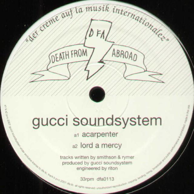 Gucci Soundsystem ACARPENTER Vinyl Record