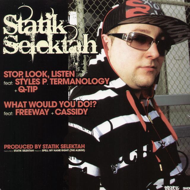 Statik Selektah NO HOLDING BACK / HARDCORE Vinyl Record
