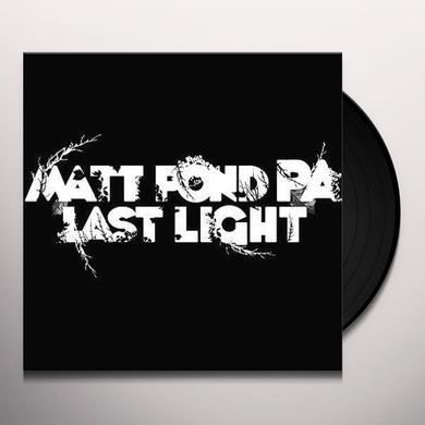 Matt Pond Pa LAST LIGHT Vinyl Record