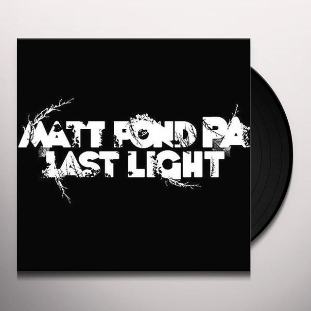 Matt Pond Pa LAST LIGHT Vinyl Record