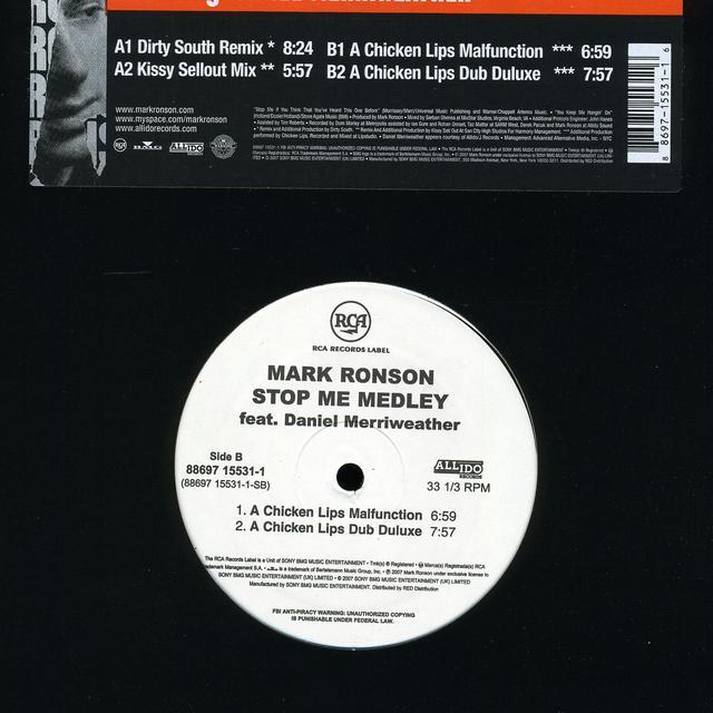 Mark Ronson STOP ME (X4) Vinyl Record