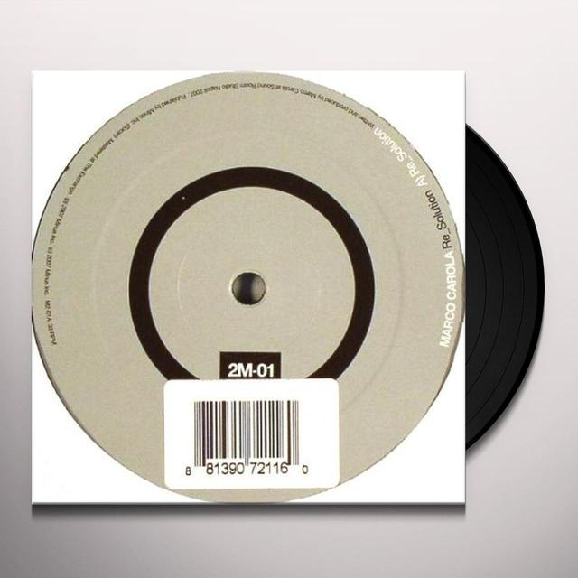 Marco Carola RE_SOLUTION (EP) Vinyl Record