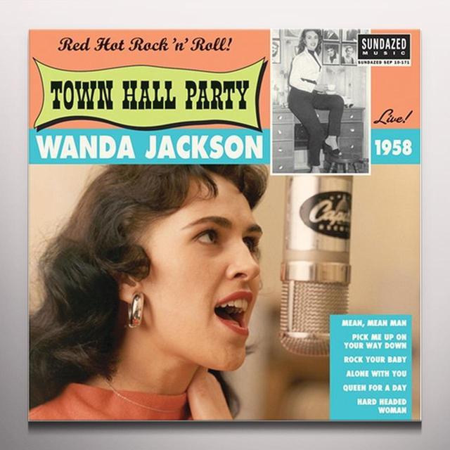 Wanda Jackson LIVE AT TOWN HALL PARTY 1958  (EP) Vinyl Record - Colored Vinyl