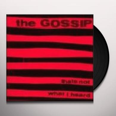 Gossip THAT'S NOT WHAT I HEARD Vinyl Record - Reissue