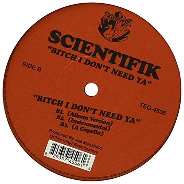 Scientifik I AIN'T THE DAMN ONE Vinyl Record