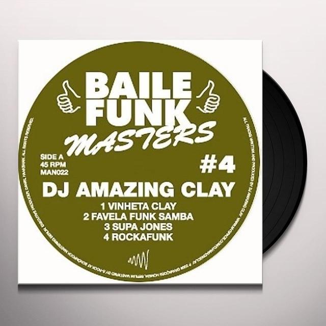 Dj Amazing Clay BAILE FUNK MASTER 4 Vinyl Record