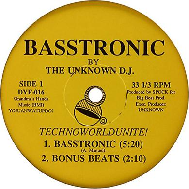 Unknown Dj BASSTRONIC Vinyl Record