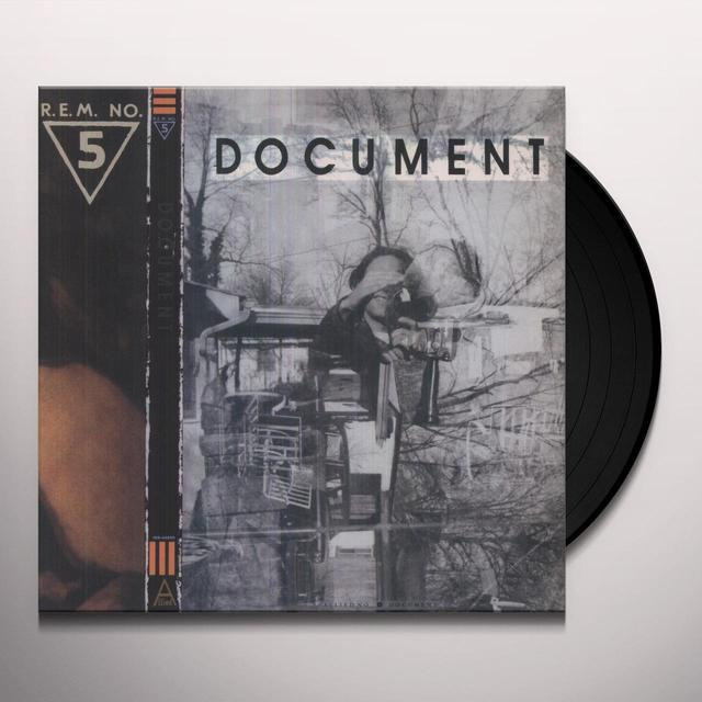 R.E.M DOCUMENT Vinyl Record - Limited Edition, 180 Gram Pressing
