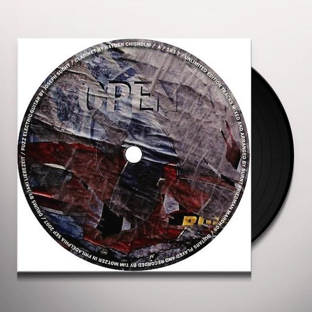 Burnt Friedman & Jaki Liebezeit UNLIMITED EDITION (EP) Vinyl Record