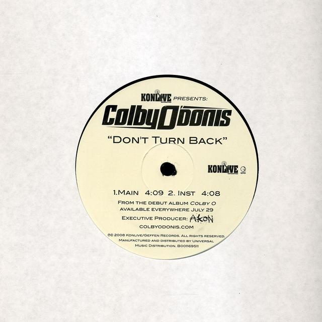 Colby O'Donis DON'T TURN BACK (X2) Vinyl Record