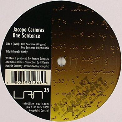Jacopo Carreras ONE SENTENCE Vinyl Record
