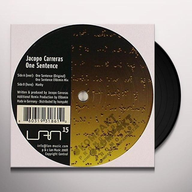 Jacopo Carreras ONE SENTENCE (EP) Vinyl Record