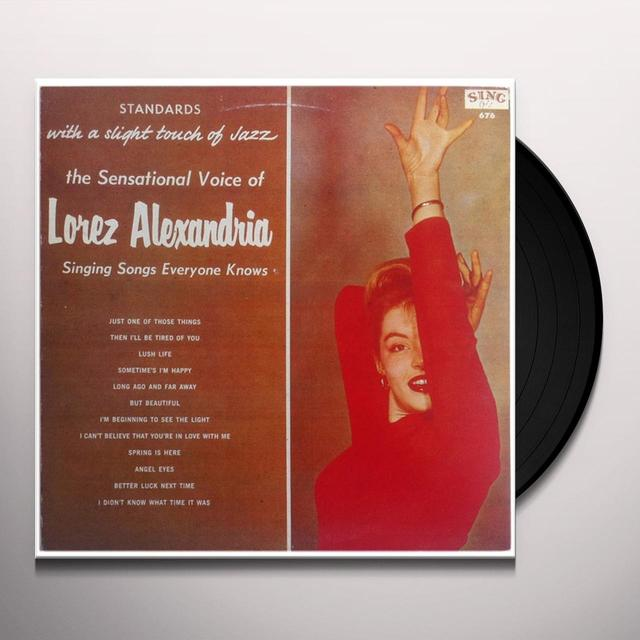 Lorez Alexandria STANDARDS WITH A SLIGHT TOUCH OF JAZZ Vinyl Record
