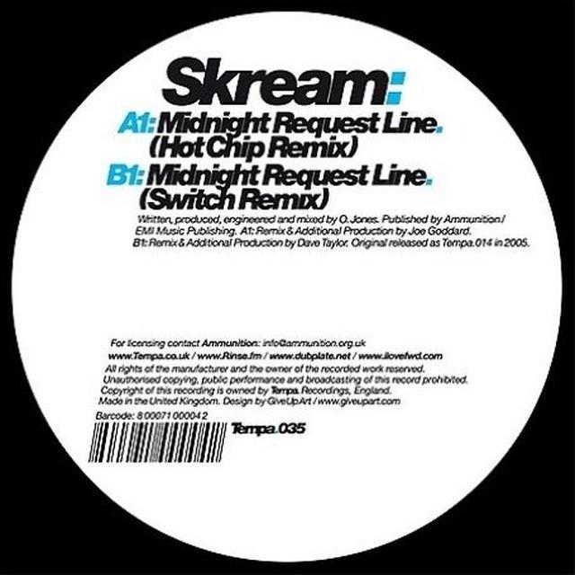 Skream MIDNIGHT REQUEST LINE (REMIXES) Vinyl Record