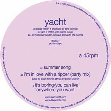 Yacht SUMMER SONG Vinyl Record