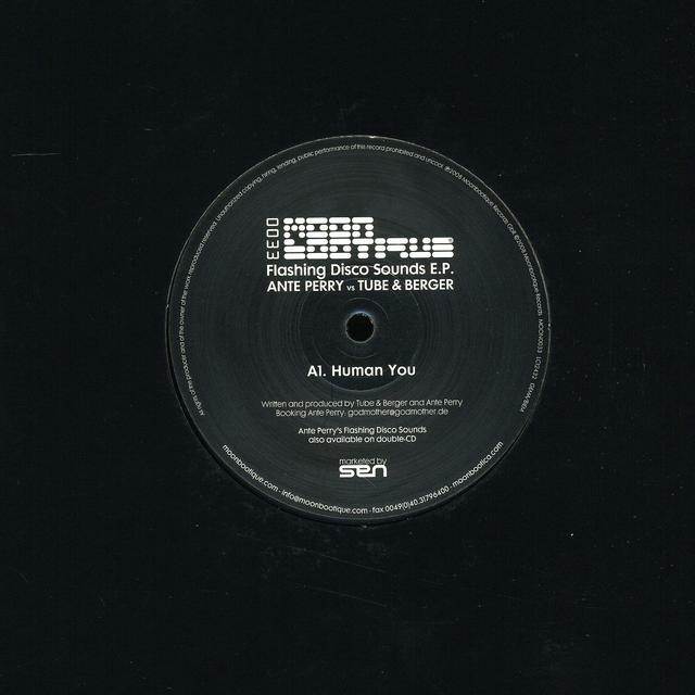 Ante Vs Tube Perry & Berger FLASHING DISCO SOUNDS Vinyl Record