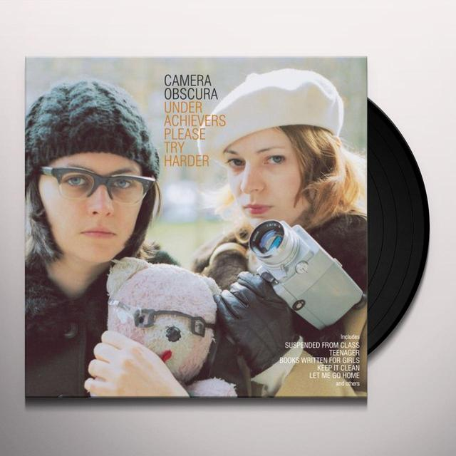 Camera Obscura UNDERACHIEVERS PLEASE TRY HARDER Vinyl Record
