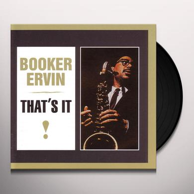 Booker Ervin THAT'S IT Vinyl Record