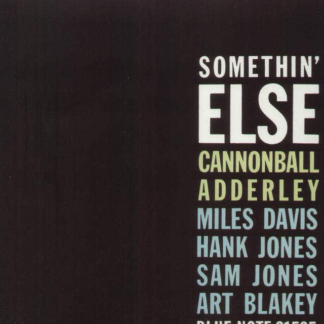 Cannonball Adderley SOMETHIN ELSE Vinyl Record - w/CD, Reissue, Remastered